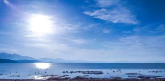 На озере Манасаровар, Тибетское нагорье, Китай